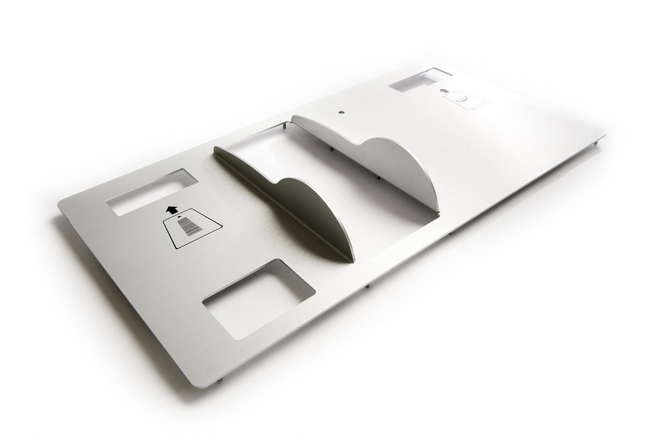 Vervaardigen van frontpanelen (CNC Frezen/CNC Kanten/CNC Stiftlassen/Slijpen/Hoogglanzend blank anodiseren/indruk bedrukken van frontpanelen)